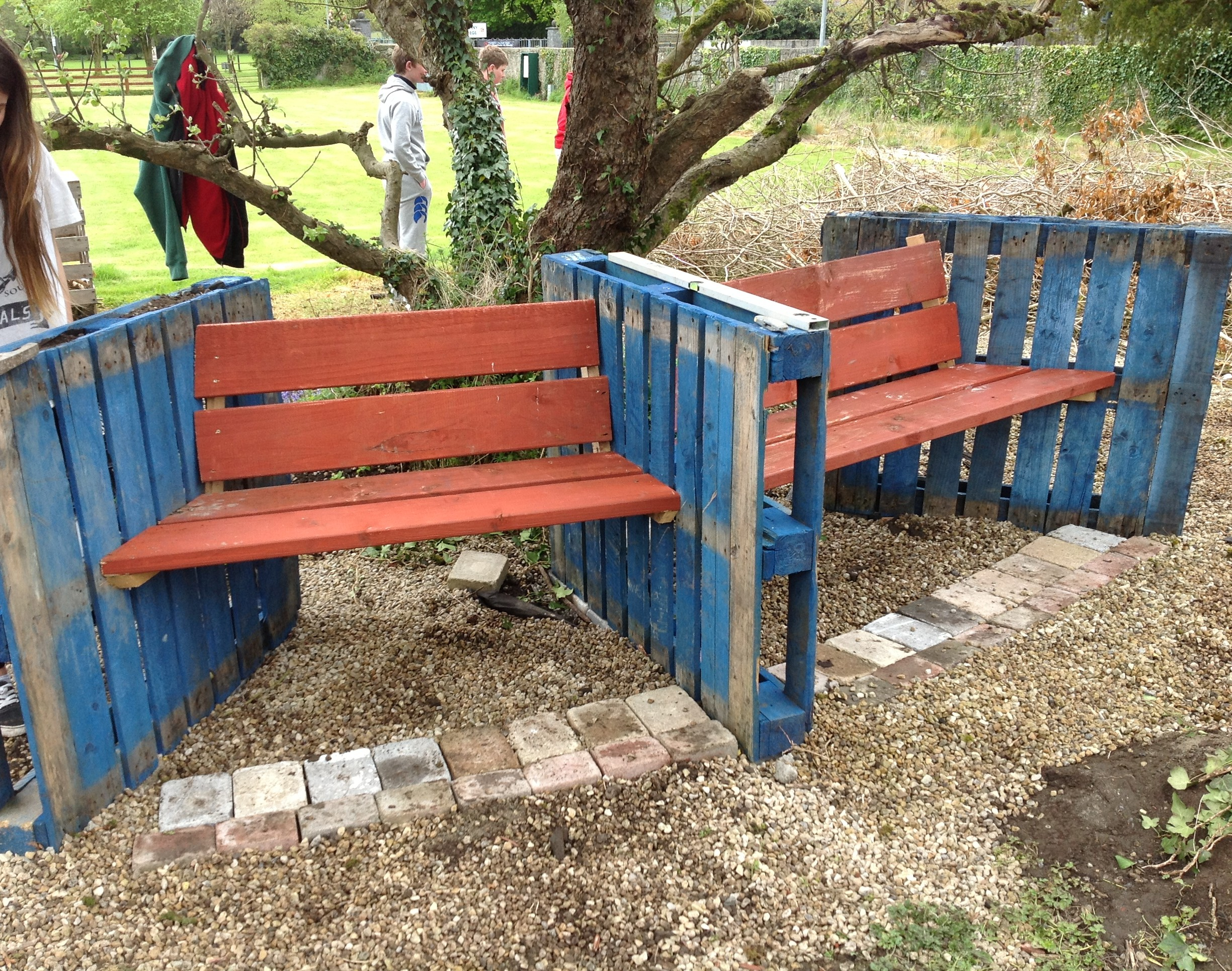 the completed garden seats